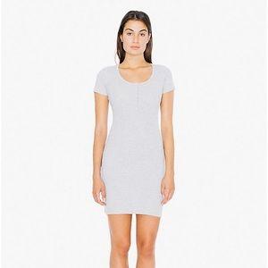 American Apparel Henley Ribbed Dress